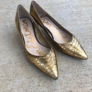 Sam Edelman Laura Gold Kitten Heels